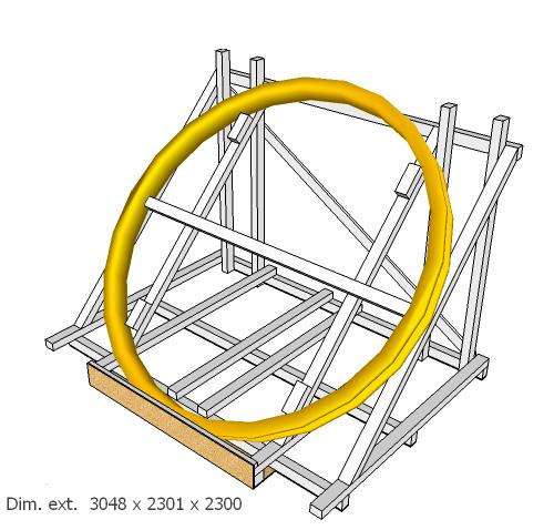 Caisse pour roue de coulée