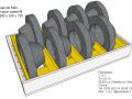 Calage pour disque de freins
