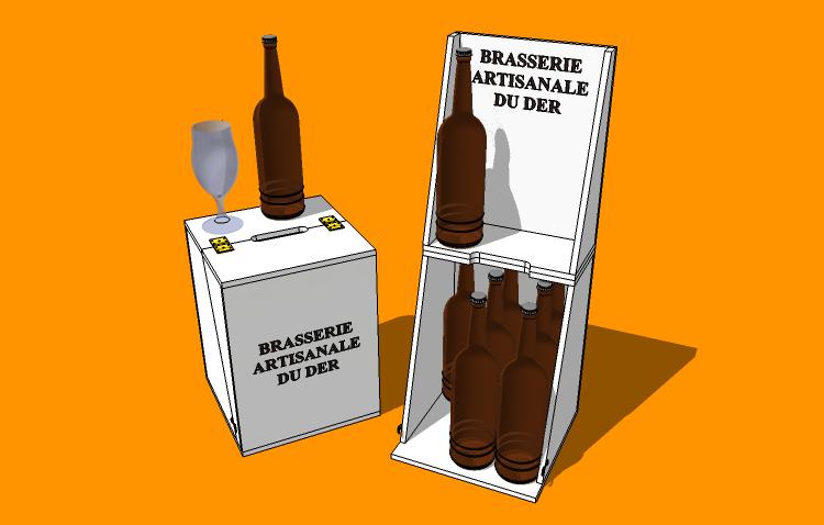 Caisse présentoir 9 bouteilles