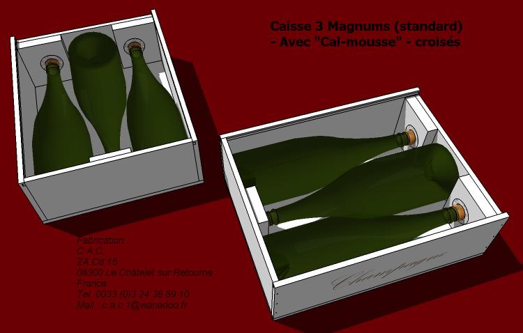 Caisse 3 magnums