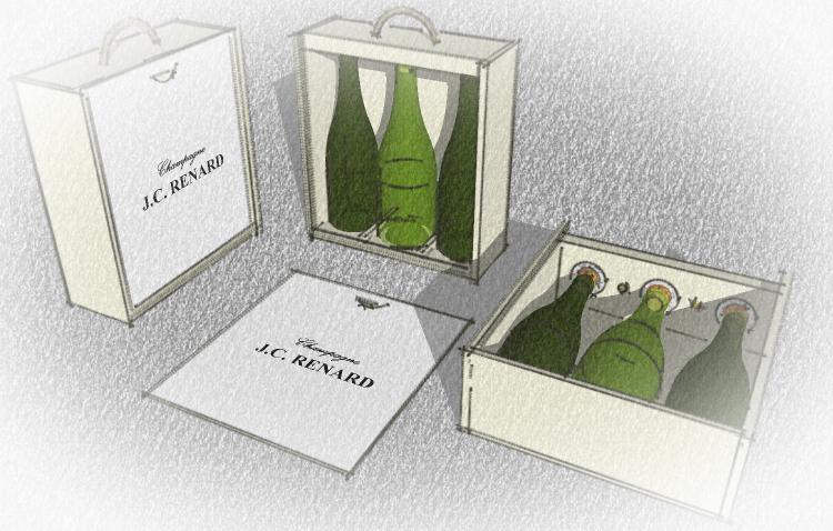 Caisse 2 bouteilles de champagne + 1 symphonie